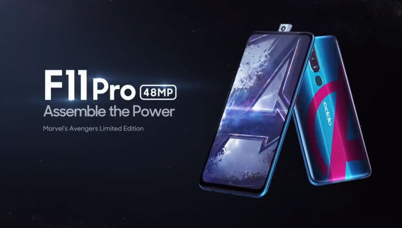 Oppo F11 Pro Marvel Avengers Limited Edition with 128GB storage launching on April 24