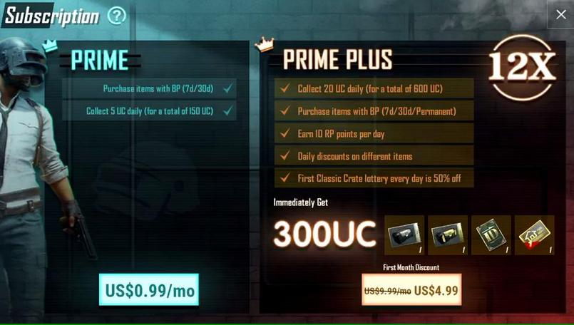 PUBG Mobile Prime and Prime Plus subscriptions official now on
