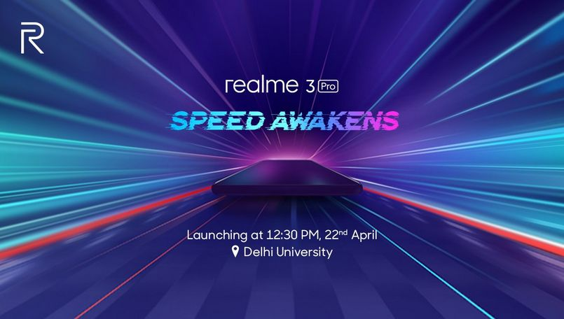 Realme 3 Pro to launch on April 22 in India at 12:30PM