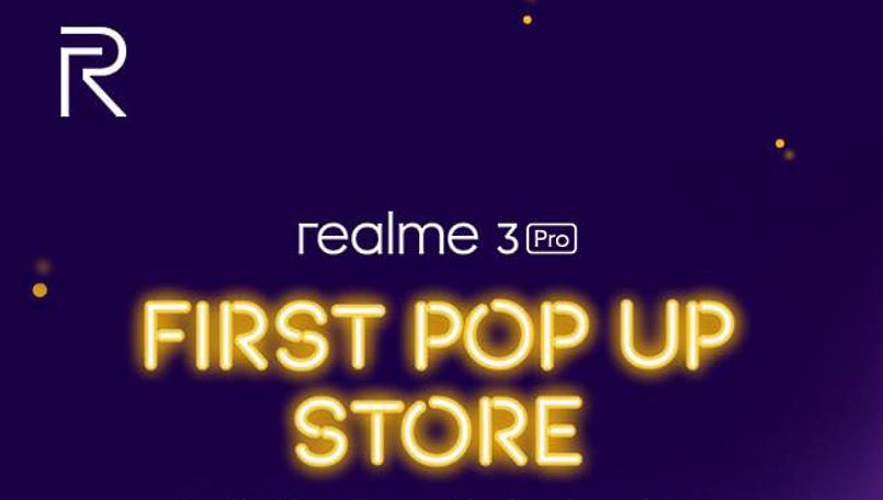 Realme to open a pop-up store for fans to purchase Realme 3 Pro on April 27