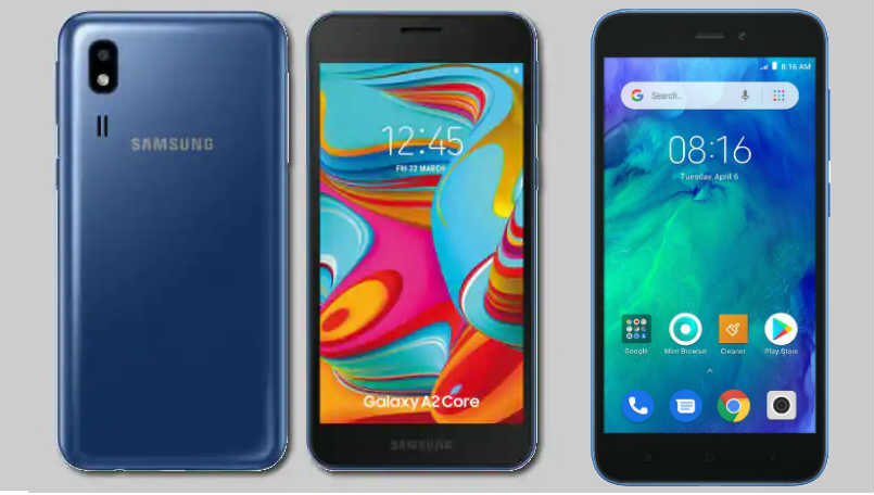 Samsung Galaxy A2 Core vs Xiaomi Redmi Go: Price in India, specifications and features compared