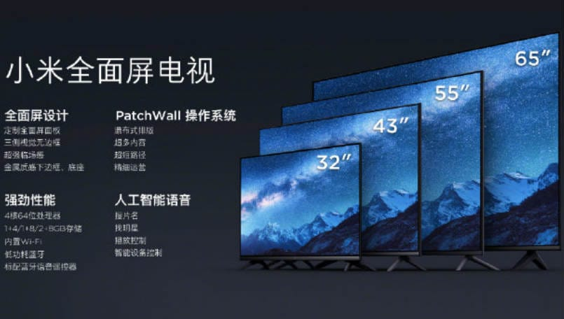 Xiaomi 32-inch, 43-inch FHD, 55-inch and 65-inch 4K HDR Smart TVs launched