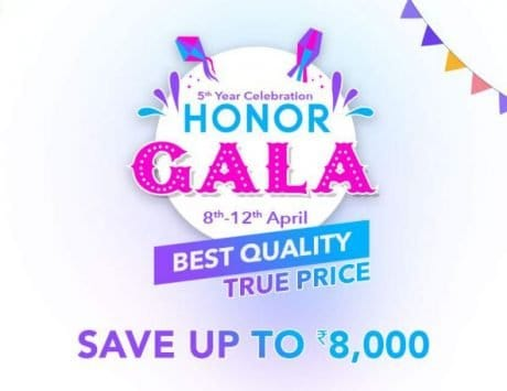 Honor Gala Festival Sale: April 8 to April 12