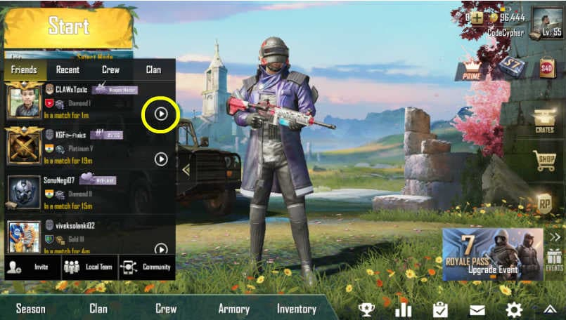 PUBG Mobile: How to deactivate Spectator mode
