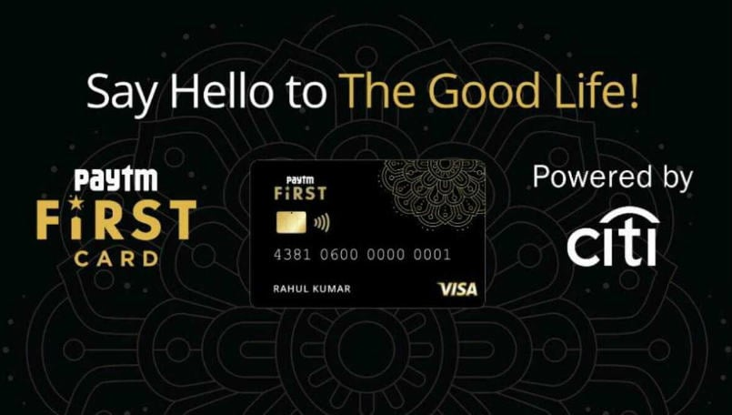 Paytm First Card introduced in India in partnership with Citibank: All you need to know