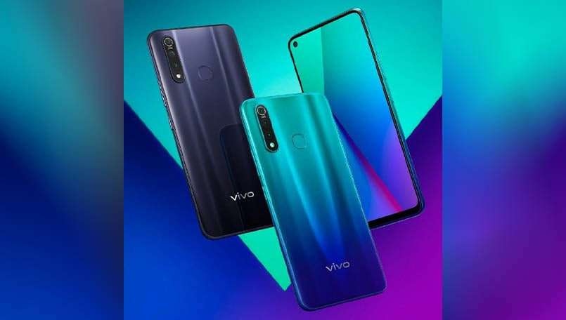 Vivo Z5x official press renders confirming a triple rear camera and different color variants
