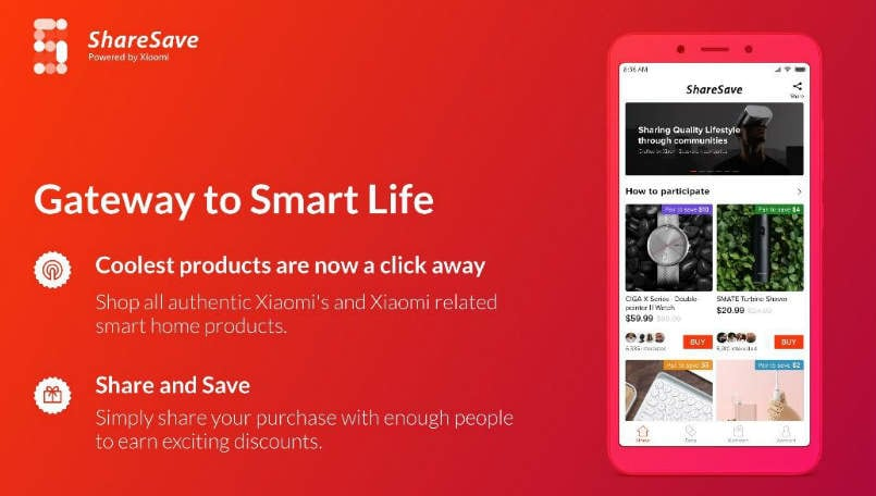 Xiaomi ShareSave app updated with new features and more products