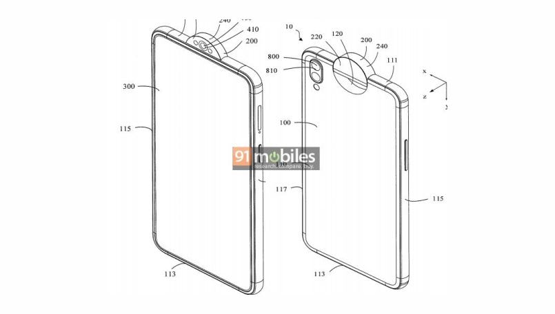 Oppo gets rotating selfie camera design patent from USPTO