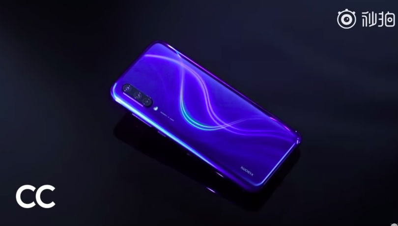 Xiaomi Mi CC9 Blue color variant with gradient finish shared by CEO Lei Jun