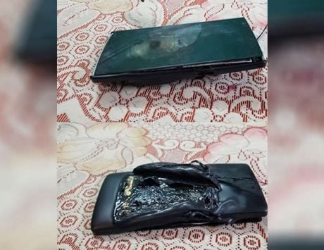 OnePlus One catches fire