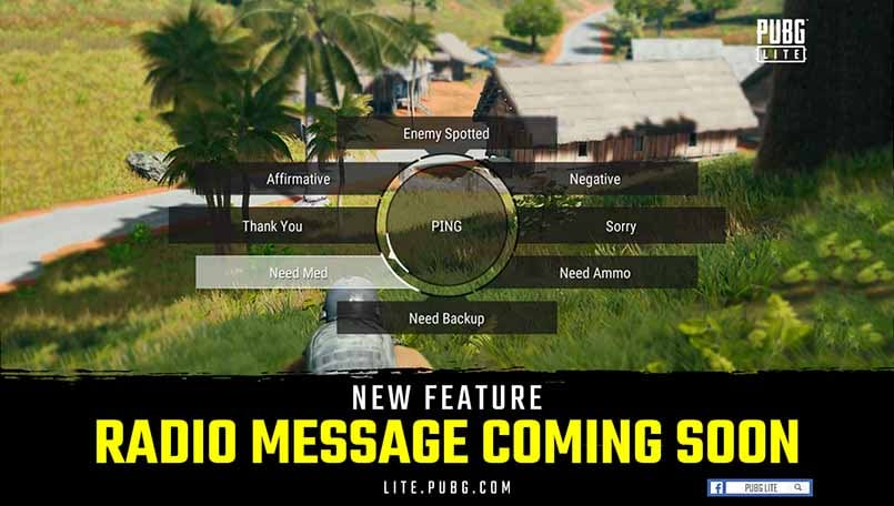 Pubg Lite Getting New Radio Message Feature From Main Game