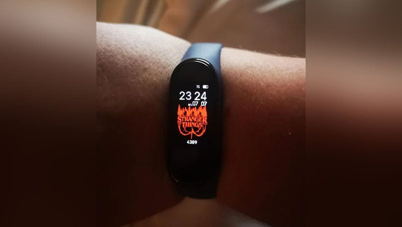 Xiaomi Mi Band 4 spotted with Stranger Things, other custom