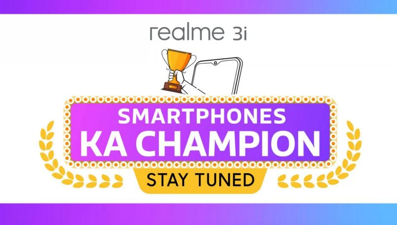 Realme 3i teased on Flipkart; launching with Realme X in India on July 15