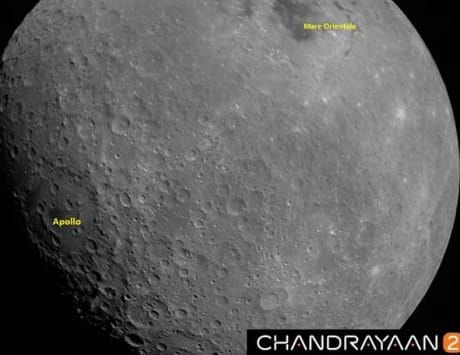 ISRO releases first Moon photos from Chandrayaan-2 showing Mare Orientale basin