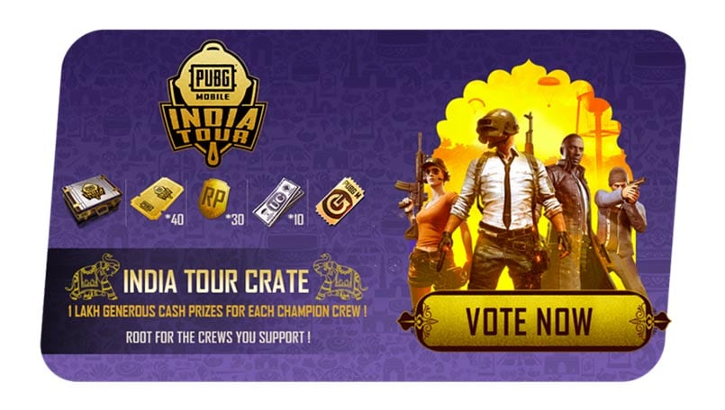 PUBG Mobile India Tour: Here's how audience can vote for their favorite teams