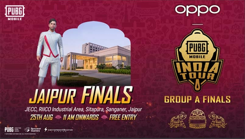 PUBG Mobile India Tour 2019: Jaipur Finals to be held on August 25