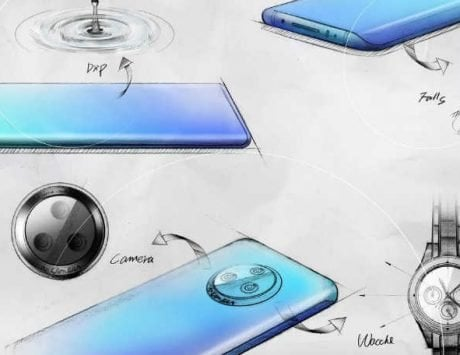 Vivo NEX 3 sketch details the waterfall curved screen