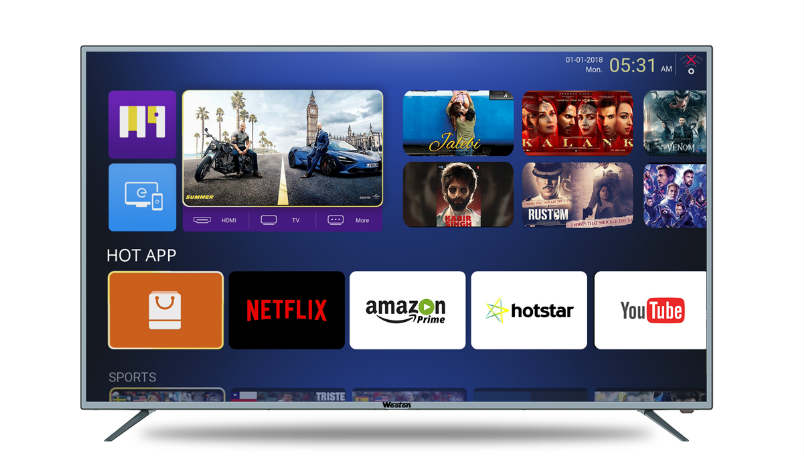 Weston 43-inch, 55-inch smart TVs launched, price starts