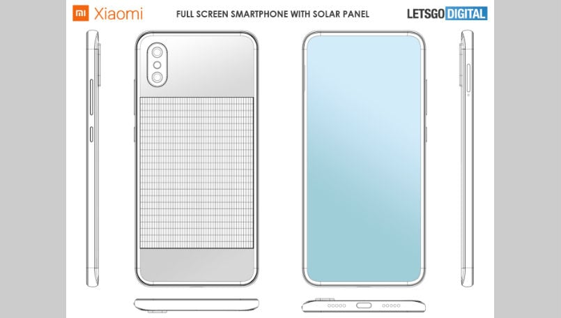 Xiaomi patents a smartphone design with integrated solar panel