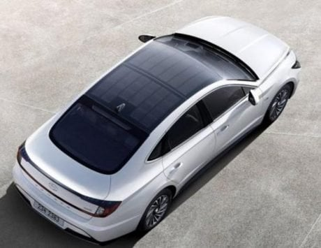 Hyundai Sonata hybrid car with solar roof charging launched