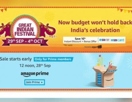Amazon Great Indian Festival sale begins on September 29: Check offers