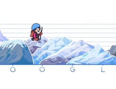 Google Doodle celebrates 80th birthday of Junko Tabei