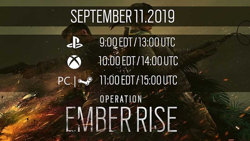 Rainbow Six Siege: Operation Ember Rise releases today