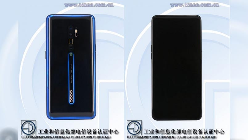 Oppo Reno2 5G with periscope zoom lens surfaces on TENAA