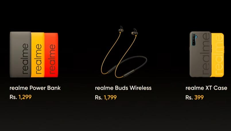 Realme XT Iconic case, 10,000mAh Power Bank, and Realme Buds Wireless launch in India
