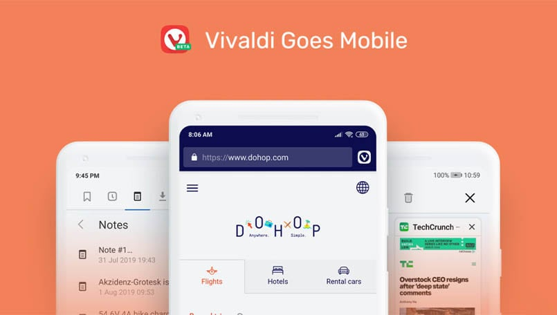 Vivaldi Mobile for Android launched; features cross platform sync, screenshots