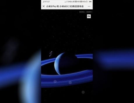 Xiaomi Mi MIX 4 real life photo with full screen display leaked