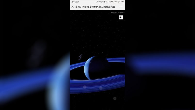 Xiaomi Mi MIX 4 and Mi 9 Pro 5G accidentally show up on official website