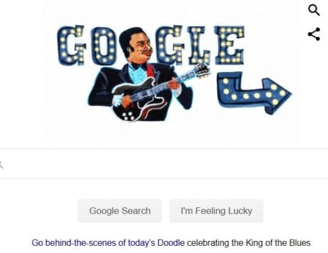 Google Doodle dedicated to B.B. King
