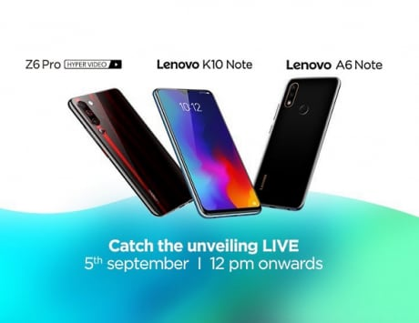 Lenovo K10 Note, Z6 Pro, A6 Note launch at 12PM: Live stream