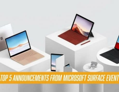 Top 5 Announcements from Microsoft Surface Event 2019