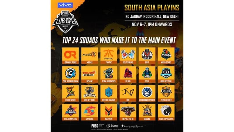 Delhi to host PUBG Mobile Club Open Fall Split 2019