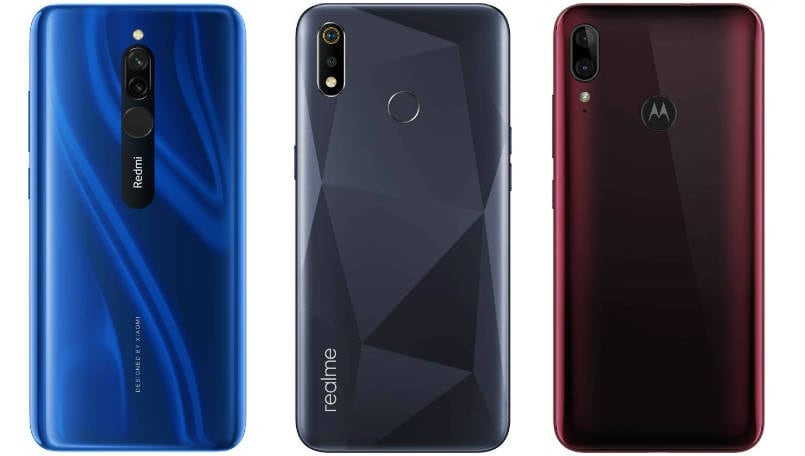Xiaomi Redmi 8 vs Realme 3i vs Motorola Moto e6s: Price in India, Specifications and Features compared