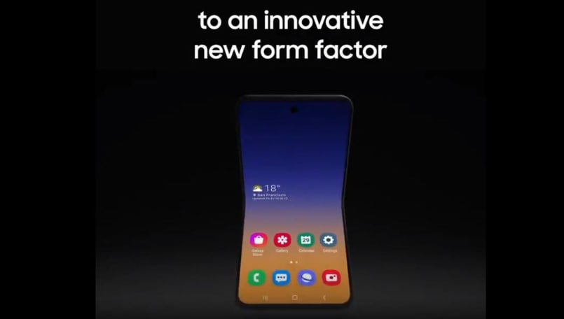 Samsung shows off a new foldable flip phone concept at SDC 2019