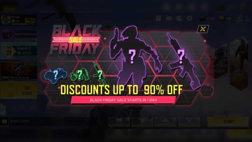 Call of Duty Mobile Black Friday Deals teased with up to 90 percent discounts
