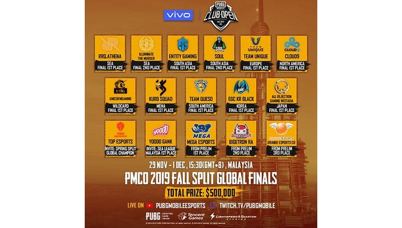 Pmco 2019 Final Lineup For The Grand Finals Is Now Out