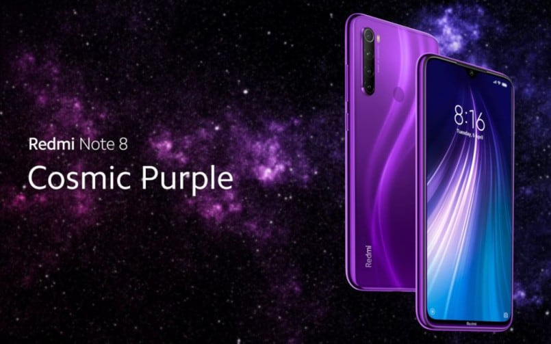 Xiaomi Redmi Note 8 Cosmic Purple variant teased to launch in India