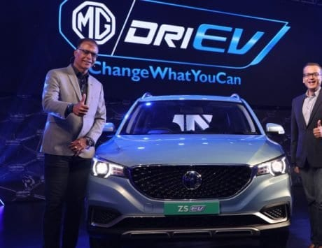 MG ZS EV pure electric internet SUV launched in India