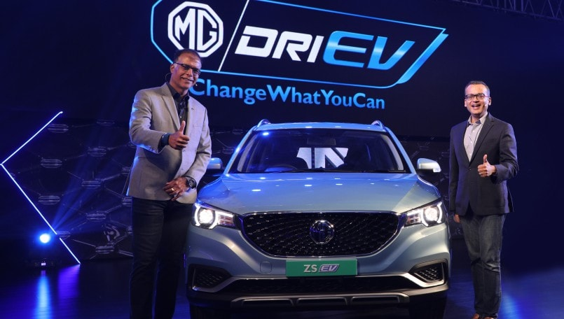 MG ZS EV pure electric internet SUV launched in India at starting Rs 20.88 lakh