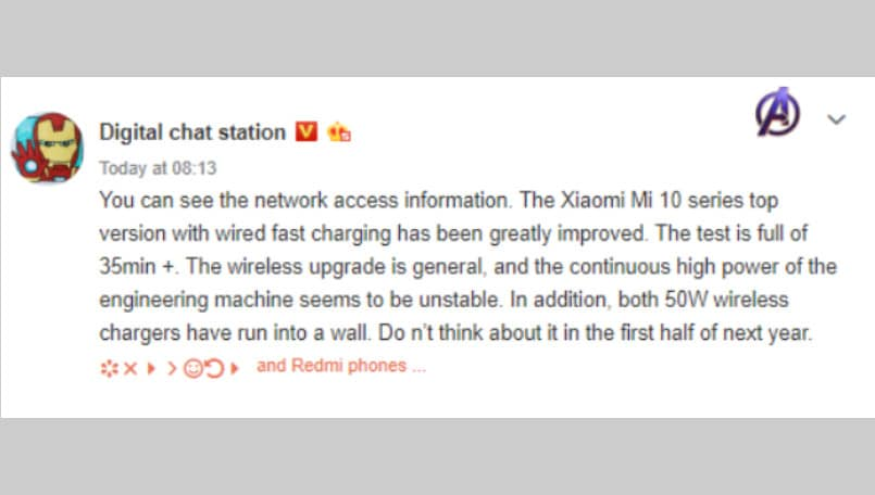 Xiaomi Mi 10 Pro tipped to feature 66W fast charging; to top-up battery in 35 minutes