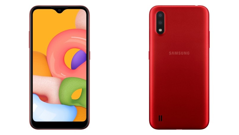 Samsung Galaxy A01 budget smartphone launched with Infinity V-display and dual rear cameras: Price, Specifications
