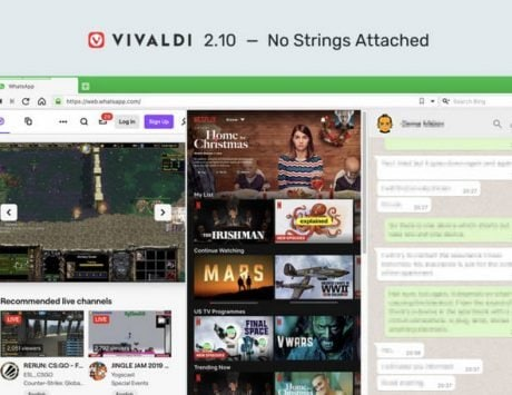 Vivaldi 2.10 update brings improved website compatibility and more