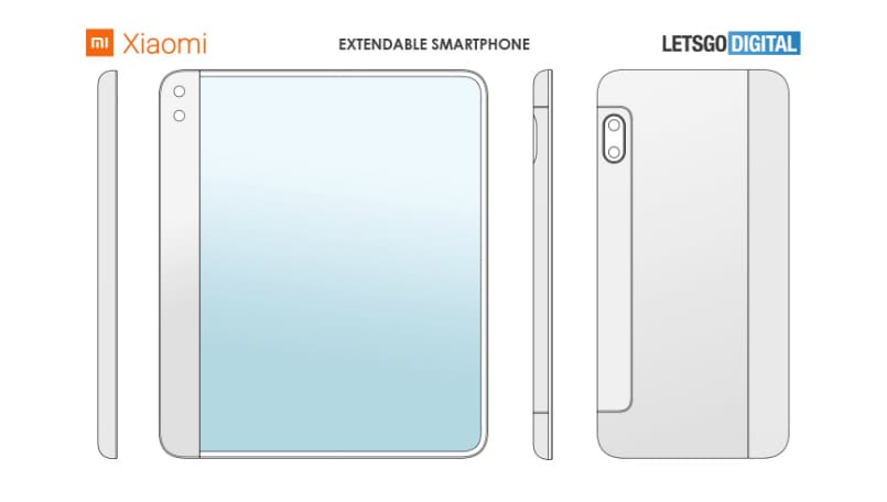 Xiaomi got patent rights for a foldable phone with extending display