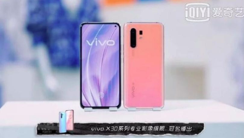Vivo X30 live images leaked ahead of December 16 launch