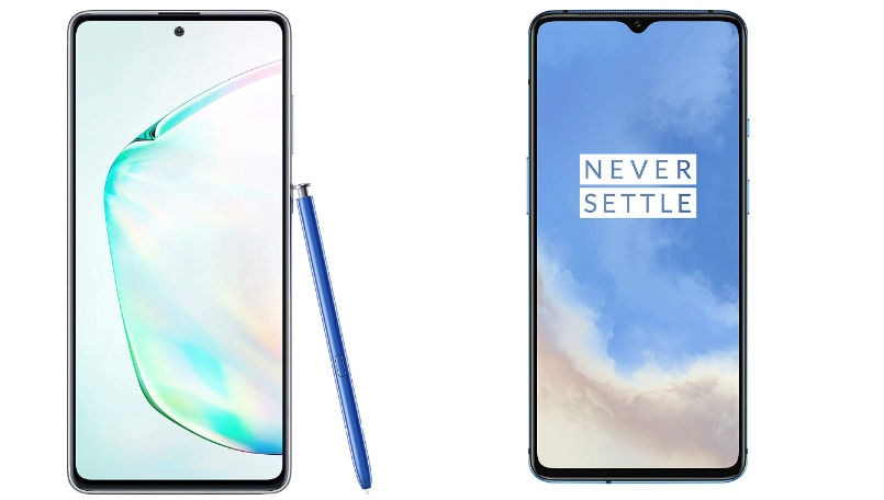 Samsung Galaxy Note 10 Lite vs OnePlus 7T: Price in India, Specifications and Features compared
