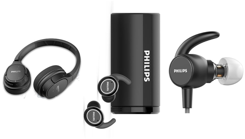 Philips announces three new wireless audio products in its 2020 sports range